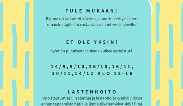 Vertaistukiryhmä omaishoitajille Espoossa