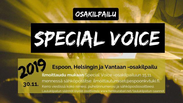 Special voice kilpailu 30.11. klo 14